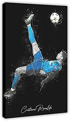 Lienzo De Impresión 60 * 90cm Sin Marco Póster deportivo Superstar Player Cristiano Ronaldo 06 decoración de dormitorio decoración de habitación de oficina deportiva regalo