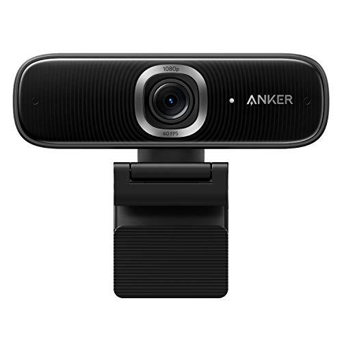 Anker PowerConf C300 Webcam 1080p Full HD, Videoconferencias y Streaming Modos, Autoenfoque y Encuadre con IA, Micrófonos con cancelación de Ruido, HDR, Corrección de Poca luz, Certificado para Zoom