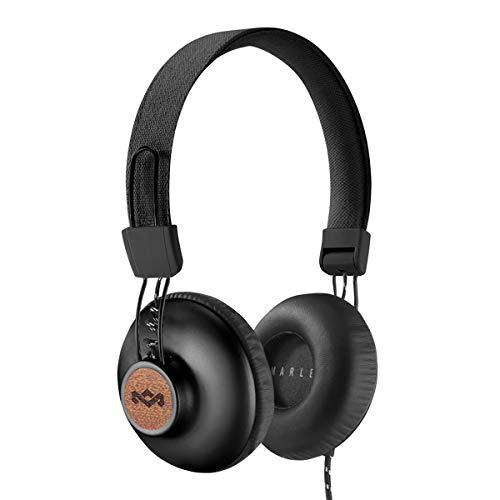 House of Marley Positive Vibration 2 Cuffie con Microfono, Diver da 40mm, Design Confortevole On-Ear, Pieghevole, Grigio/Nero