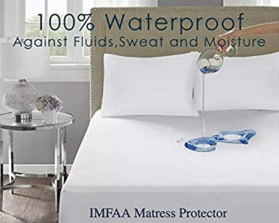 IMFAA 100% Water & Moisture Proof Terry Towel Mattress Protector, Non Noisy,Anti Bacterial, Breathable Topper Cover in All Sizes. by IMFAA
