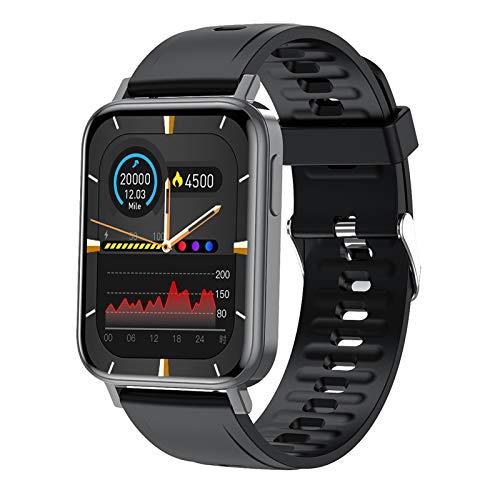 BNMY Smartwatch, 1.65Inch Reloj Inteligente, Pulsera Actividad con Fitness Tracker, Medidor De Temperatura Corporal, Monitor De Sueño, IP68 Impermeable, Reloj De Fitness para Mujer Hombre,Negro