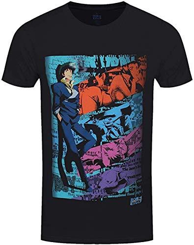 Cowboy Bebop Spike - Camiseta Oficial para Hombre Negro Negro (XXL