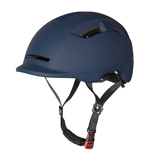 Atphfety Adult-Men-Women Bike Helmet with Rechargeable Light-CPSC Certified for Urban Commuter Cycling Scooter E-Bike Skateboard (Dark Blue)