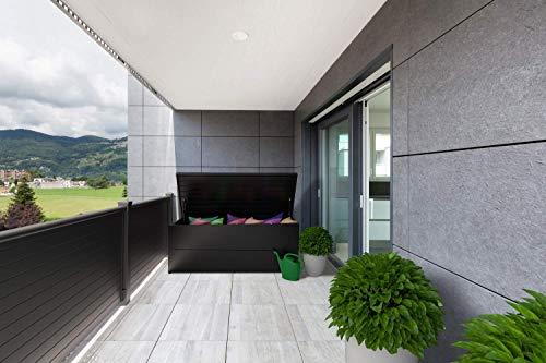 ILESTO Aufbewahrungsbox aus Stahl, Benni-Boy (401L): Auflagenbox wasserdicht L | Kissenbox für Ihren Garten 135x65x69cm | Stauraum für den Außenbereich | Anthrazit - 4