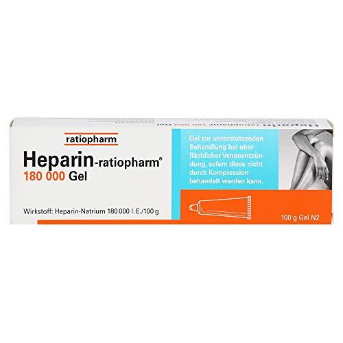 HEPARIN-RATIOPHARM 180.000 I.E. Gel 100 g