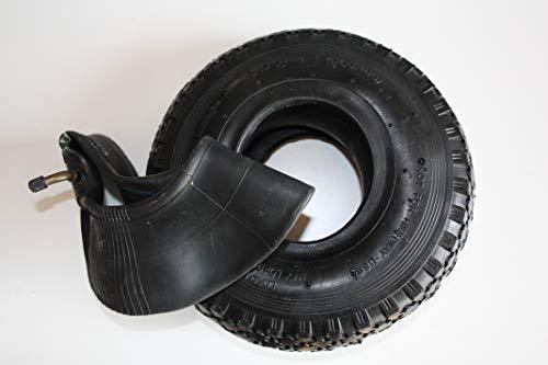 HKB ® 4 PR Reifen Mantel Decke Ersatzrad mit Schlauch Winkelventil für Sackkarre Handwagen Schubkarre Quad 3,00-4 260mm, 700494