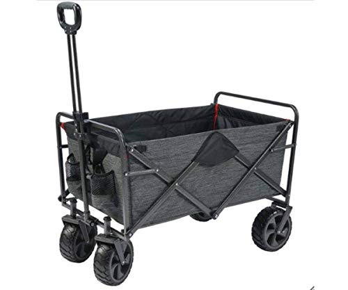 Mac Sports Folding Cart XL Steel with Cargo Net and Wheels All Terrain 1327296