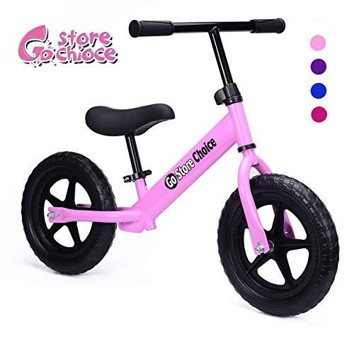 Gostorechoice Kids Balance Bike for Boys & Girls 1-5 Years Old No Pedal Learn to Ride Pre Bike W/EVA Wheels Adjustable Seat (Pink)