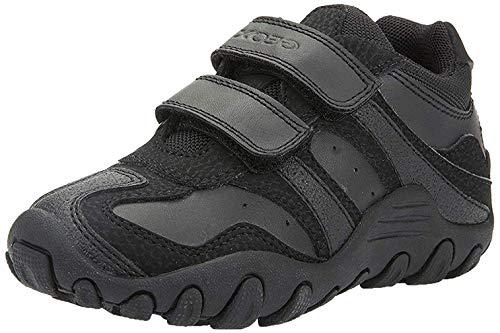 Geox Jungen J CRUSH M Sneakers, Schwarz (Black), 39 EU