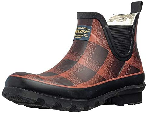 Pendleton Women s Classic Chelsea Ankle Length Slip Resistant Rain Boot Red Black Ombre Size product image