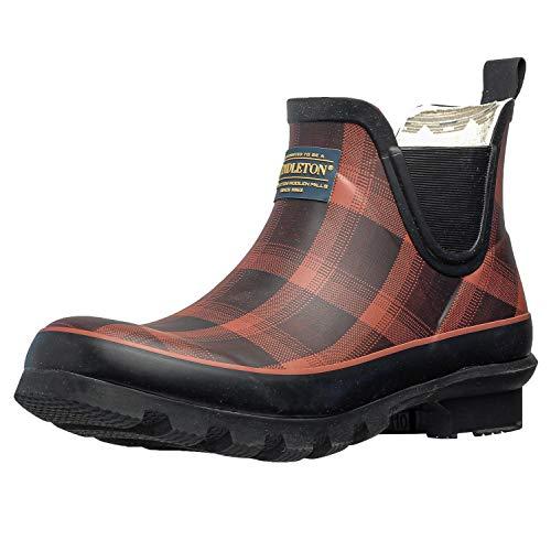 Pendleton Women's Classic Chelsea Ankle Length Slip-Resistant Rain Boot, Red/Black Ombre, Size 7