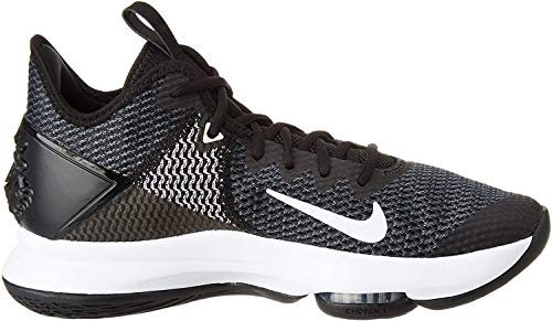 Nike Lebron Witness IV, Scarpe da Basket Uomo, Nero (Black/Black/White/Photo Blue 001), 44.5 EU