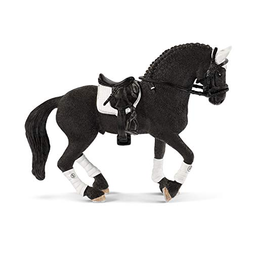 Schleich Horse Club Friesian Stallion Riding Tournament 3-piece Educational Playset for Kids Ages 5-12