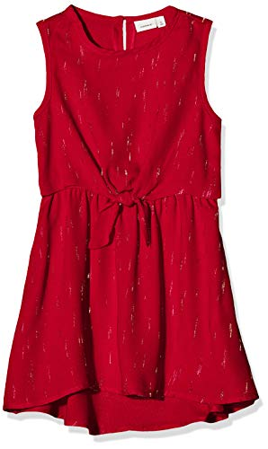 NAME IT meisjes NMFRITALINA SL Dress Camp jurk, rood (Jester Red Jester Red), (Manufacturer Maat: 122)