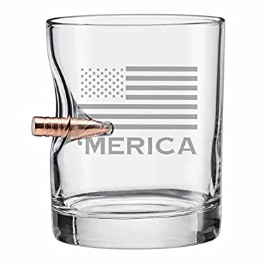 BenShot 'Merica Bulletproof Rocks Glass 11oz