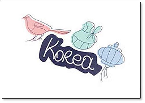 Magpie coréenne du Nouvel An lunaire, lanterne en papier coréenne et aimant de réfrigérateur de poche Seollal Fortune