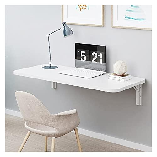 ZWYSL Escritorio de Pared Plegable, Mesa Montada en La Pared, para Estudio Dormitorio Lavandería Balcón Cocina Escritorio Plegable, Blanco 18 Tamaños (Color : White, Size : 80×50cm)