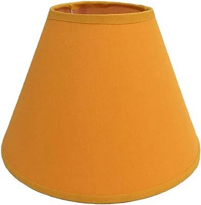 Pantalla de lámpara,Pantalla de Tela Redonda para Lampara del pared, techo, mesa de Dormitorio Pasillo Estudio (Naranje): Amazon.es: Iluminación