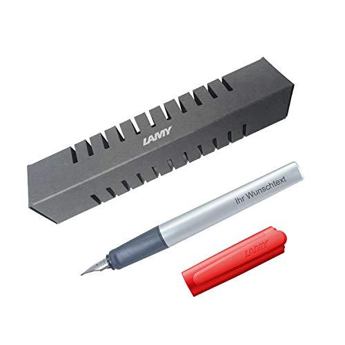 Lamy Füllfederhalter nexx Modell 85, Farbe red (rot), Feder M, inkl. Laser-Gravur