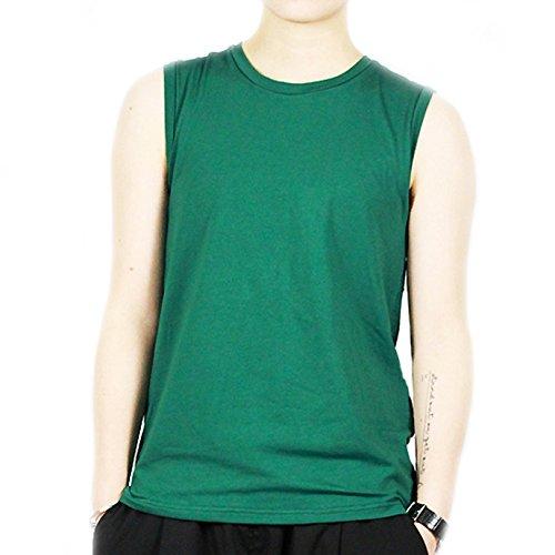 BaronHong Frauen Lesbische Tomboy Baumwolle Bunte Tank Top Weste Brust Binder Stärkere Bandage (grün, L)