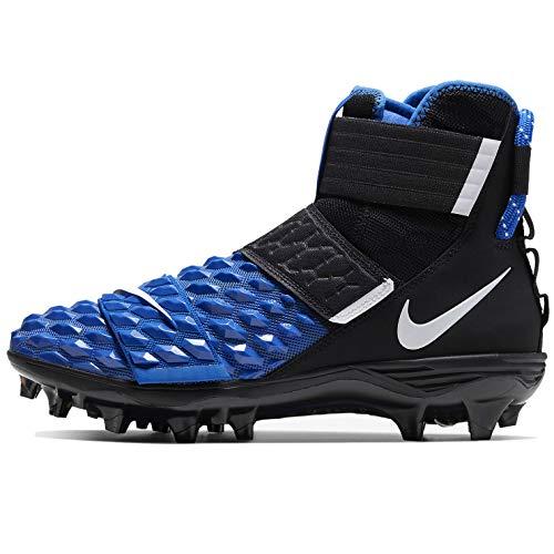 Nike Men's Force Savage Elite 2 Football Cleats (Black/White-Game Royal, Numeric_10_Point_5)