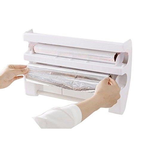 Funie Taschentuch-Aufbewahrung, Küchen-Regal mit Schneider zur Wandmontage, Papierhandtuchhalter, Grau/Blau OneSize weiß