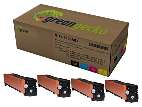 XXL Toner Sparset ersetzt HP 201X / CF400X-CF403X | Druckerpatrone für HP Color Laserjet Pro M252, M274, MFP M277 | Druckerpatronen Schwarz, Cyan, Magenta, Gelb, neuster Chip