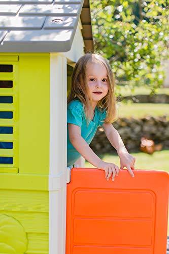 Smoby – Stelzenhaus - Spielhaus mit Rutsche, XL Spiel-Villa auf Stelzen, mit Fenstern, Tür, Veranda, Leiter, für Jungen und Mädchen ab 2 Jahren - 12