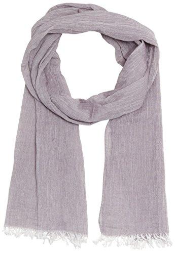 MUSTANG Damen Fringed Scarf Schal, Grau (ash 135), One Size (Herstellergröße: 1)