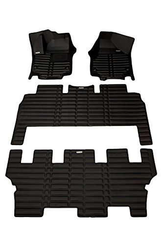 TuxMat Custom Car Floor Mats for Chrysler Pacifica Hybrid 2017-2020 Models- Laser Measured, Largest Coverage, Waterproof, All Weather.The BestChrysler Pacifica Accessory. (Full Set - Black)
