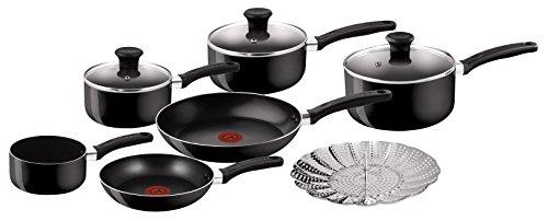 Tefal Delight Cookware Set - Black, 7 Pieces