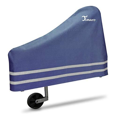 TIMARO universal Deichselhaube Blau | Deichselabdeckung Deichselschutz für Anhänger XL Deichselhülle für Pferdeanhänger & Wohnwagen | Wetterschutz Plane - car e Cover große Schutzhülle Haube