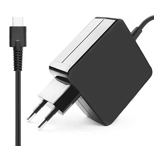 Flgan 65W USB C Carica Batteria Alimentatore per Xiaomi Mi Note Book Air 13 Huawei Mate 9 10 Asus Zen Book 3 Lenovo ThinkPad X1 Yoga 910 920 Dell Latitude 11 12 Acer SF713 SA5–271