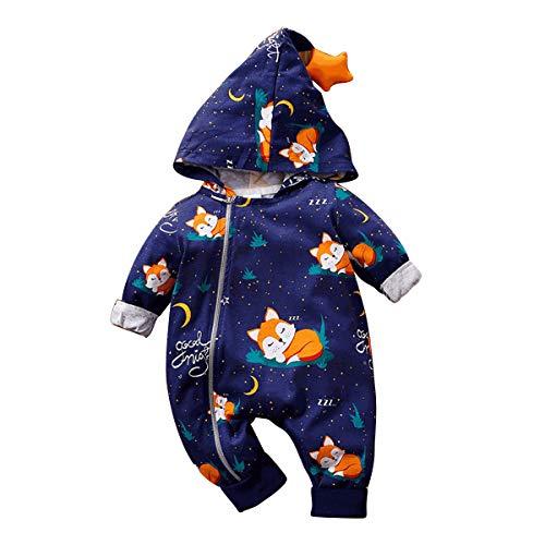 Borlai Pasgeboren baby rompertje cartoon rompertje pyjama pyjama overall outwear voor 0-24 maanden