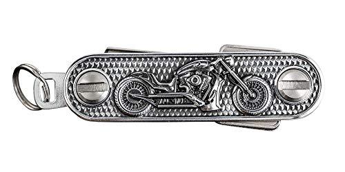 Organizador de llaves de motocicleta, en elegante embalaje de regalo, de metal, tamaño de fábrica Y, apto para aprox. 6 – 8 llaves, unilateral o ambos lados con llaves equipadas