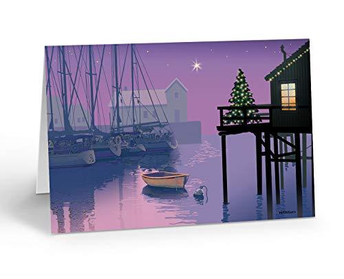 Holiday Marina Nautical Card 18 Cards and Envelopes
