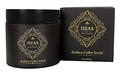 100% Natürliches Arabica Kaffee Körper und Gesichts Peeling Scrub mit Totes Meer Salz, Mandelöl und Sheabutter, gegen Cellulite, Dehnungsstreifen, Akne und Mitesser 250 ml
