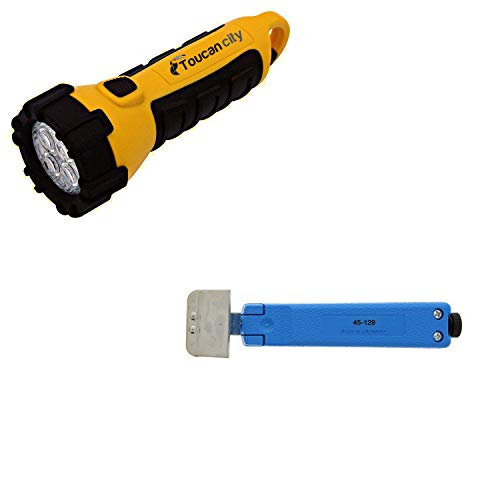 Toucan City LED Flashlight and Ideal 3/4 in. x 1-1/2 in. OD...