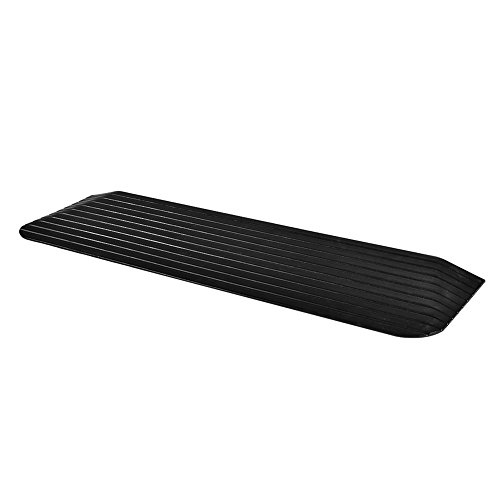 MAGIC UNION 1' Rise Solid Rubber Power Wheelchair Threshold Ramp Doorway