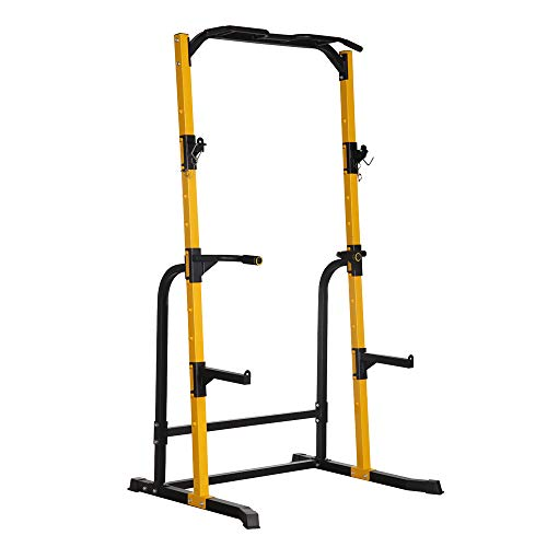 ZENOVA Power Rack Squat Stand with Weight Bench, Fitness Multi-Function Power Tower Squat Rack and Workout Bench, 800LBS Weight Capacity