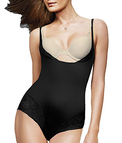 Maidenform Flexees Women's Shapewear Comfort Devotion Wear Your Own Bra Romper, Black, Small