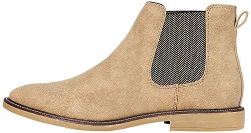 find. Marsh Herren Chelsea Boots Stiefel, Braun (Sand Nubuck Look), 44 EU