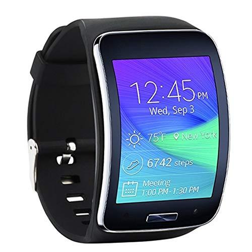 AiKoch For Samsung Galaxy S Gear R750 Reloj De Pulsera Correa De Pulsera For El Reemplazo del Engranaje Galaxy S R750 SmartWatch Banda (No Hay Reloj Substitute (Color : Black)