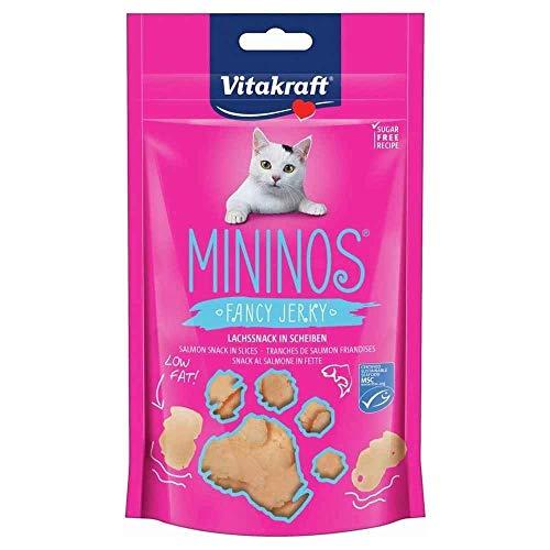 Vitakraft Katzensnack Mininos, Lachssnack in Scheiben - 40g