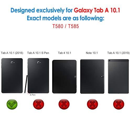 JETech Hülle für Samsung Galaxy Tab A 10,1 2016 (T580 / T585, Nicht für Modell 2019), Schutzhülle mit Ständer Funktion und Auto Schlaf/Wachen, Schwarz