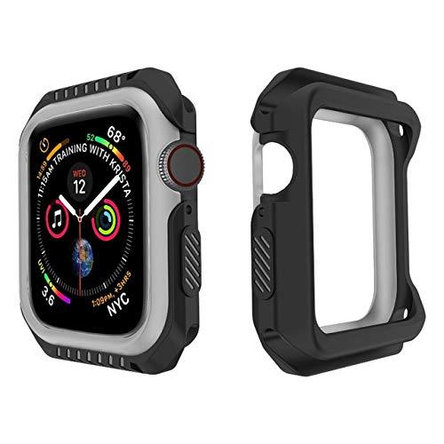 Probefit - Carcasa rígida de silicona para Apple Watch 4, 5, 6 SE, 40 mm, 44 mm, marco protector de parachoques para Iwatch 3, 2, 1, 38 mm, 42 mm