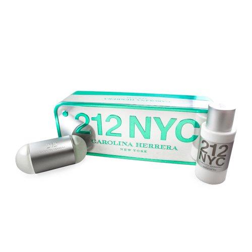 212 By Carolina Herrera For Women. Gift Set ( Eau De Toilette Spray 3.4 Oz   Hydrating Body Lotion 6.75 Oz )