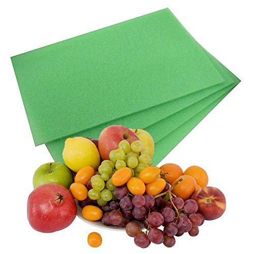 Frischhaltematte, 4PCS Antibakterielle Kühlschrankmatten entziehen Feuchtigkeit Gerüch Abwaschbar und zuschneidbar Kühlschrank Matte