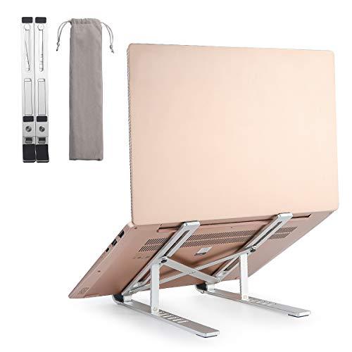 Laptop Ständer, Computerhalterung, Einstellbare Tragbarer Faltbare Aluminiumlegierung Laptop-Halterung,Notebook ständer für MacBook und Ipad, Dell, HP, Samsung, Lenovo alle 10