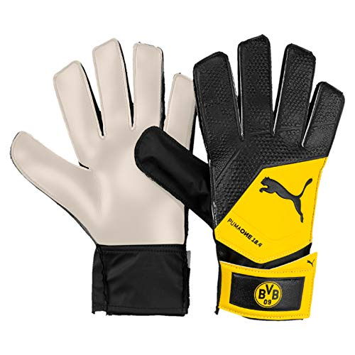 PUMA BVB One Grip 18.4 Torwarthandschuhe, Black-Cyber Yellow, 5